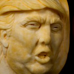 Trumpkin, uk pumpkin carver creates Donald Trumps face from a pumpkin
