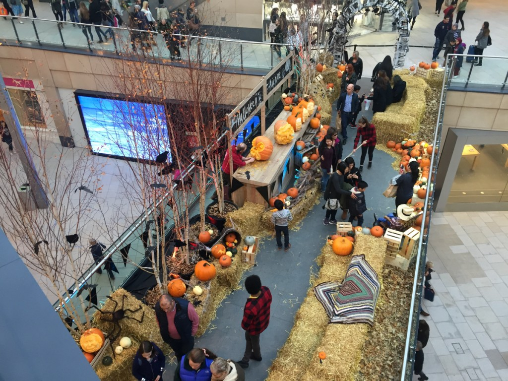 Pumpkin Carving Display at Leeds Trinity Shopping Centre.