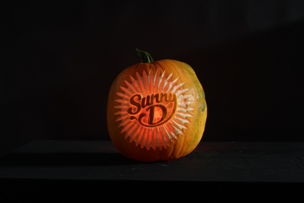 Pumpkin carving logos for advertising