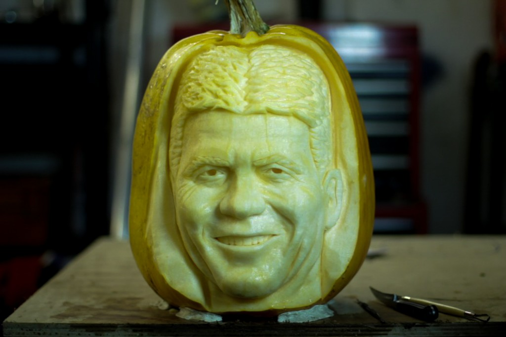 Simon Cowell X factor pumpkin carving