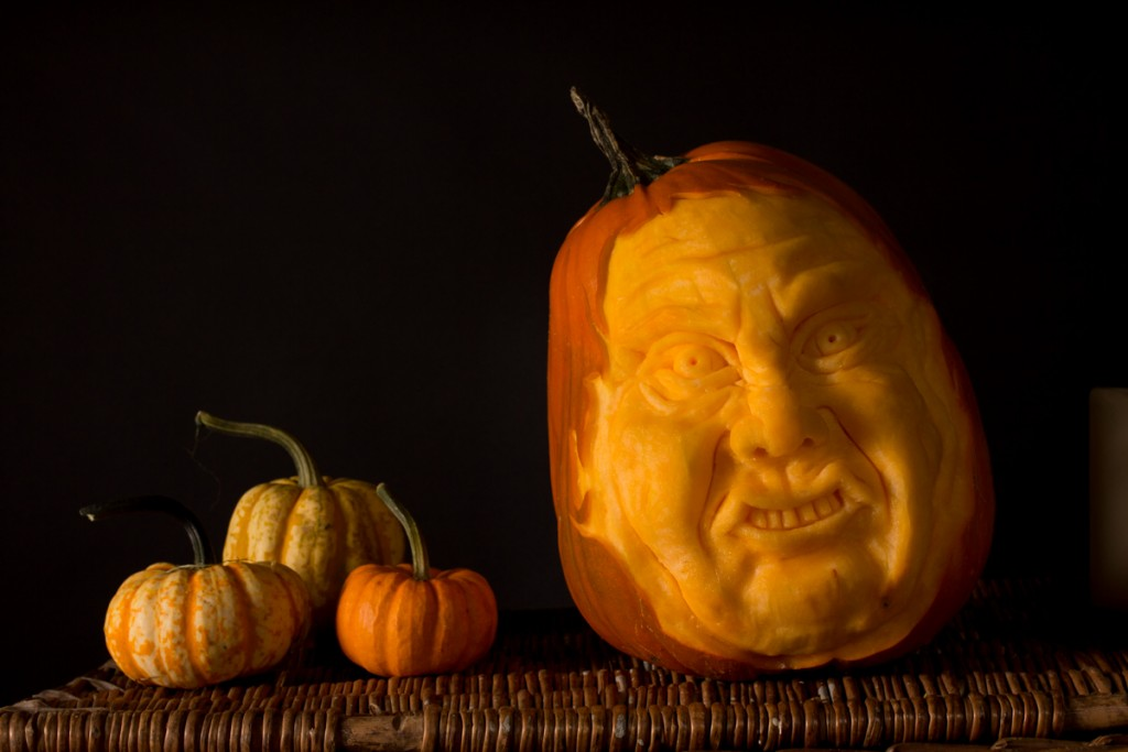 Yorkshire pumpkin carver Tom Bolland