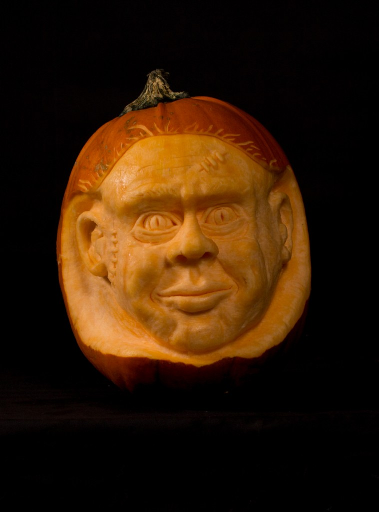 West Yorkshire pumpkin carver Tom Bolland