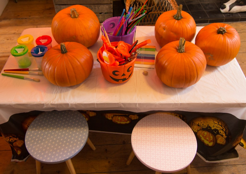 Children's creative play, pumpkin workshops, UK