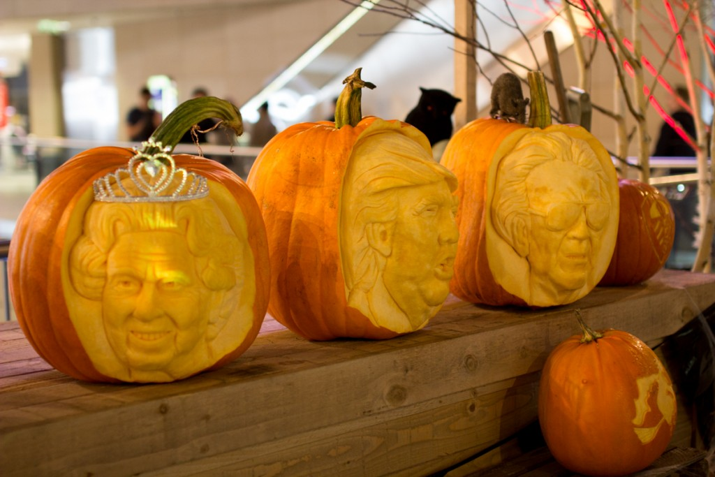Famous faces carved into pumpkins at Leeds Trinity Shopping Centre