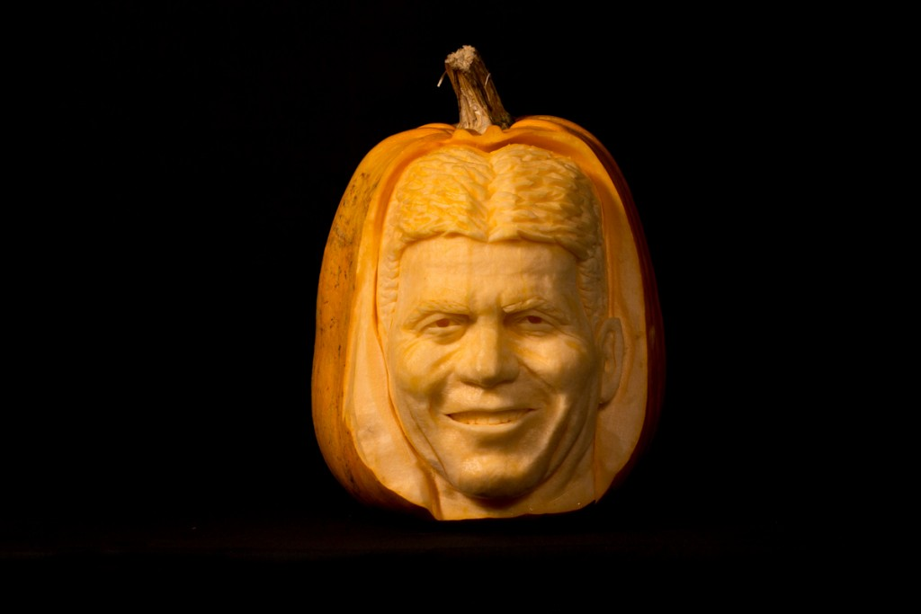 Famous faces, Simon Cowell celebrity pumpkin carving