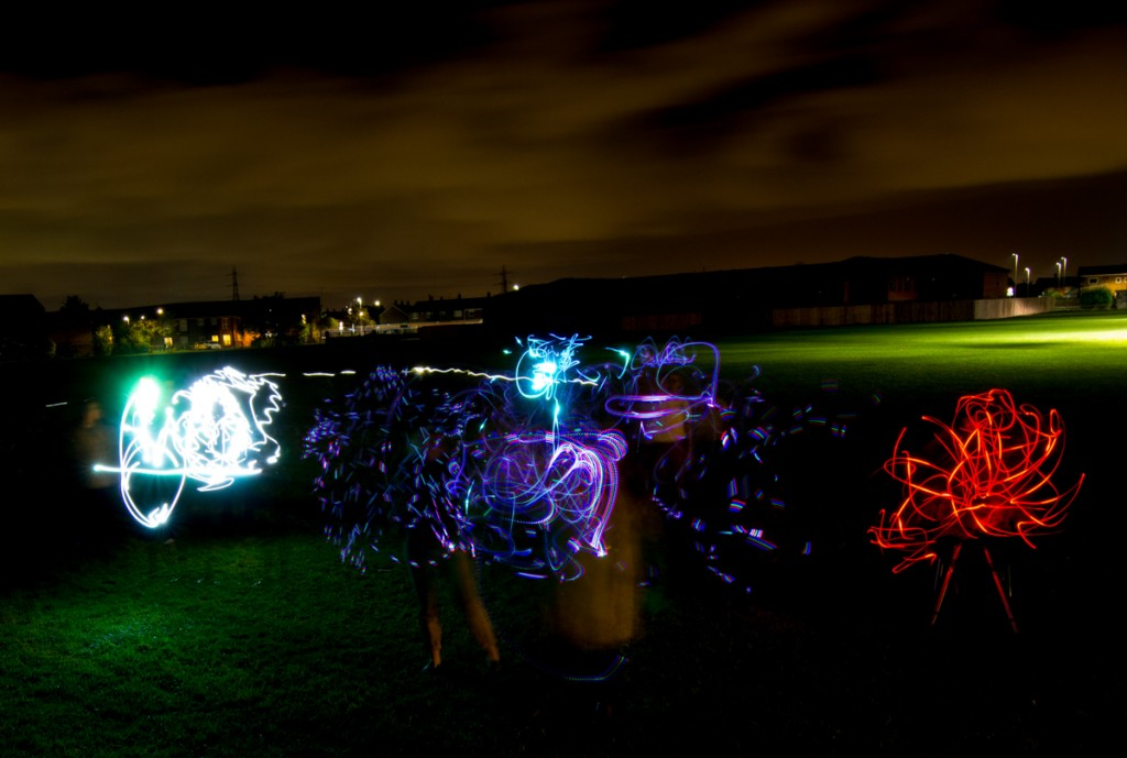Yorkshire based artists, light art workshop