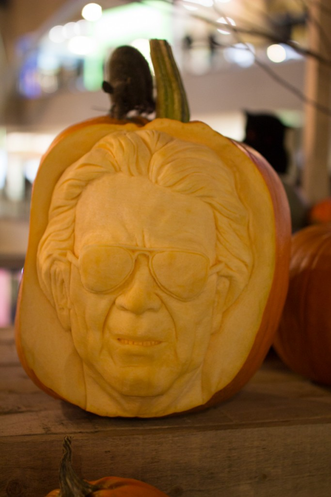Famous faces professional pumpkin carving uk Halloween events