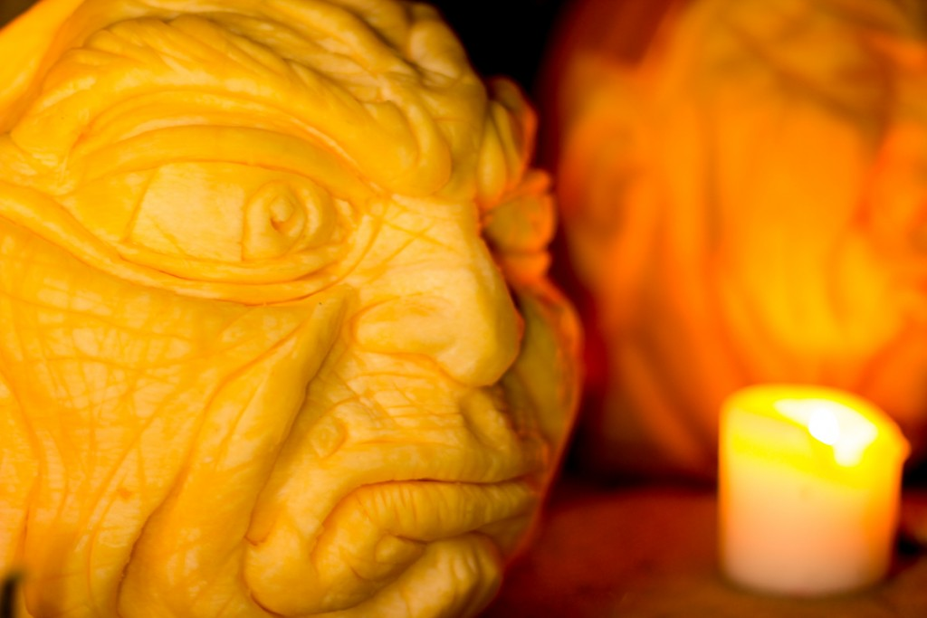 Professional pumpkin carvers for PR events