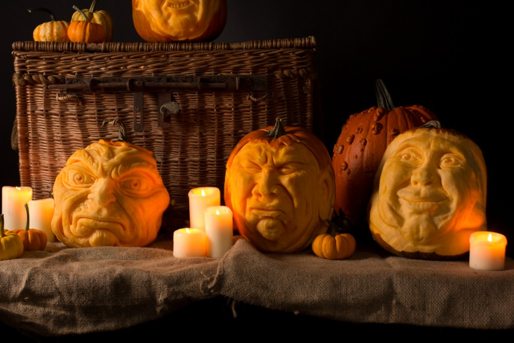 Professional pumpkin carving events, PR, workshops, photoshoots