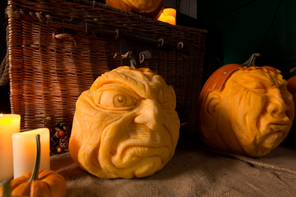 pumpkin carving photoshoots uk