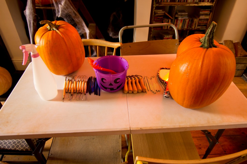 Pumpkin carving workshop fun