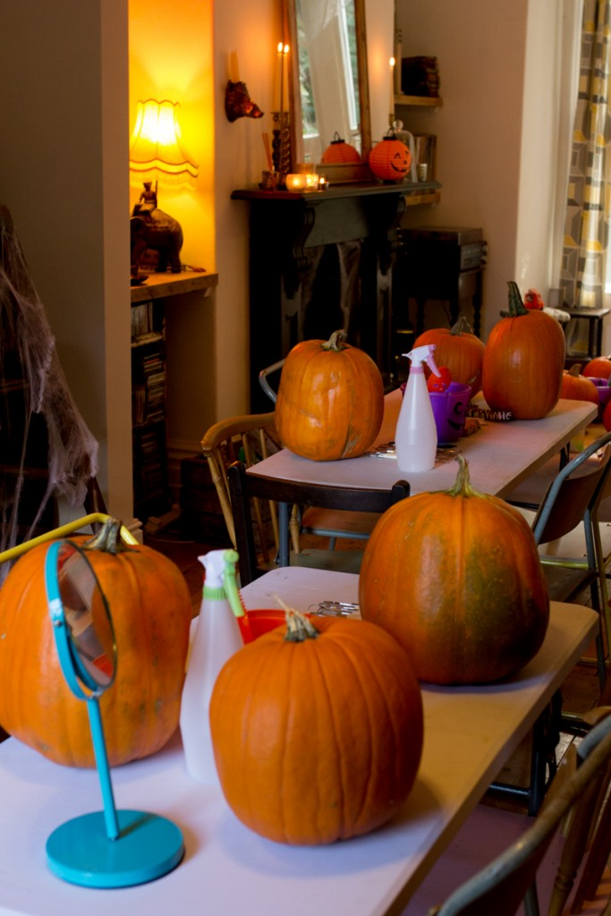 Halloween pumpkin carving workshops UK