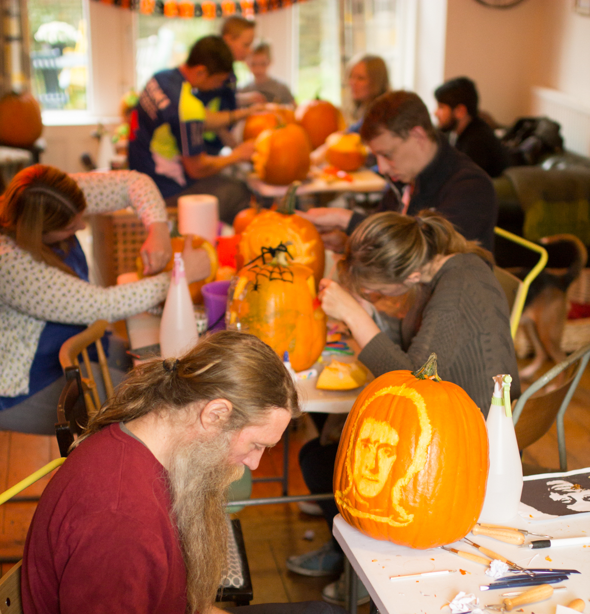 Halloween family entertainment, pumpkin carving workshops