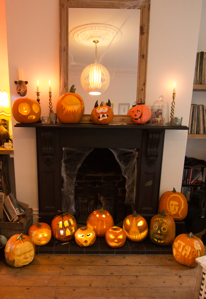Results of the pumpkin carving workshop