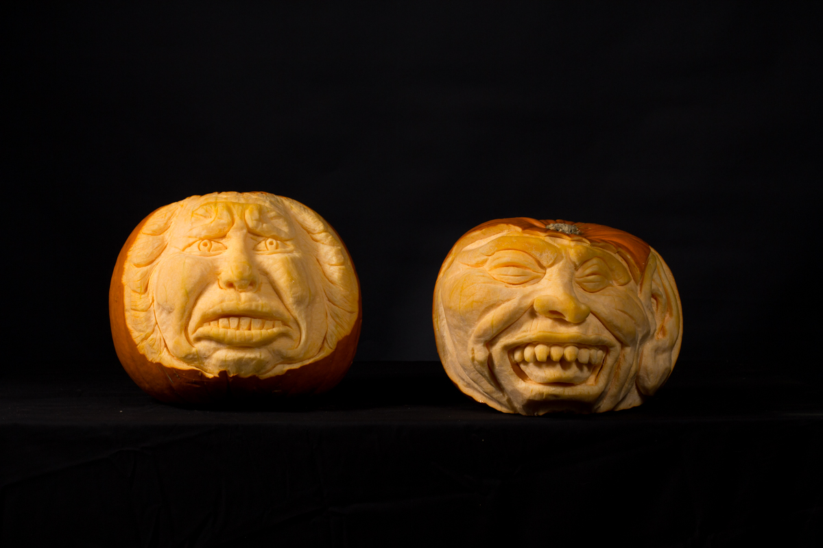 Celebrities carved into pumpkins for trinity leeds