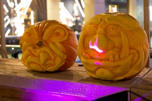 Scary monsters Halloween pumpkin carving events