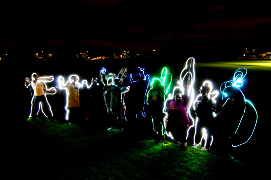Working together. Light Art workshop