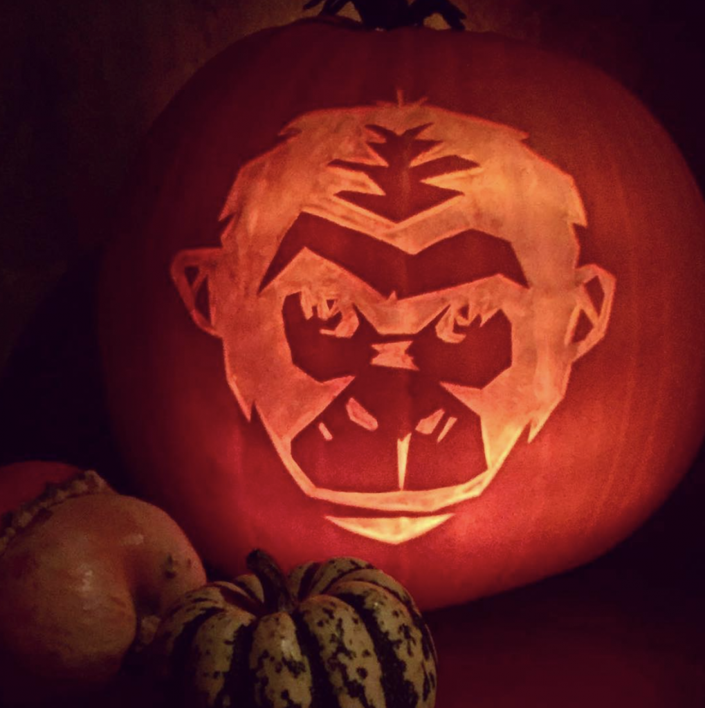MNKY logo pumpkin carving