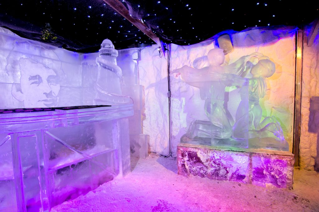 Ice sculptures at Winter wonderland Nottingham