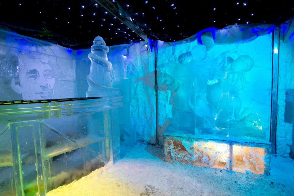 Winter ice sculpture events