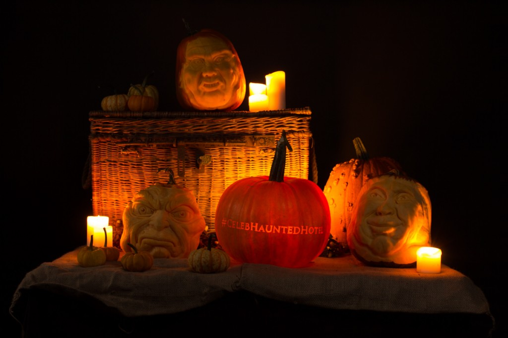 W Channel, Celeb Haunted Hotel Pumpkin carving