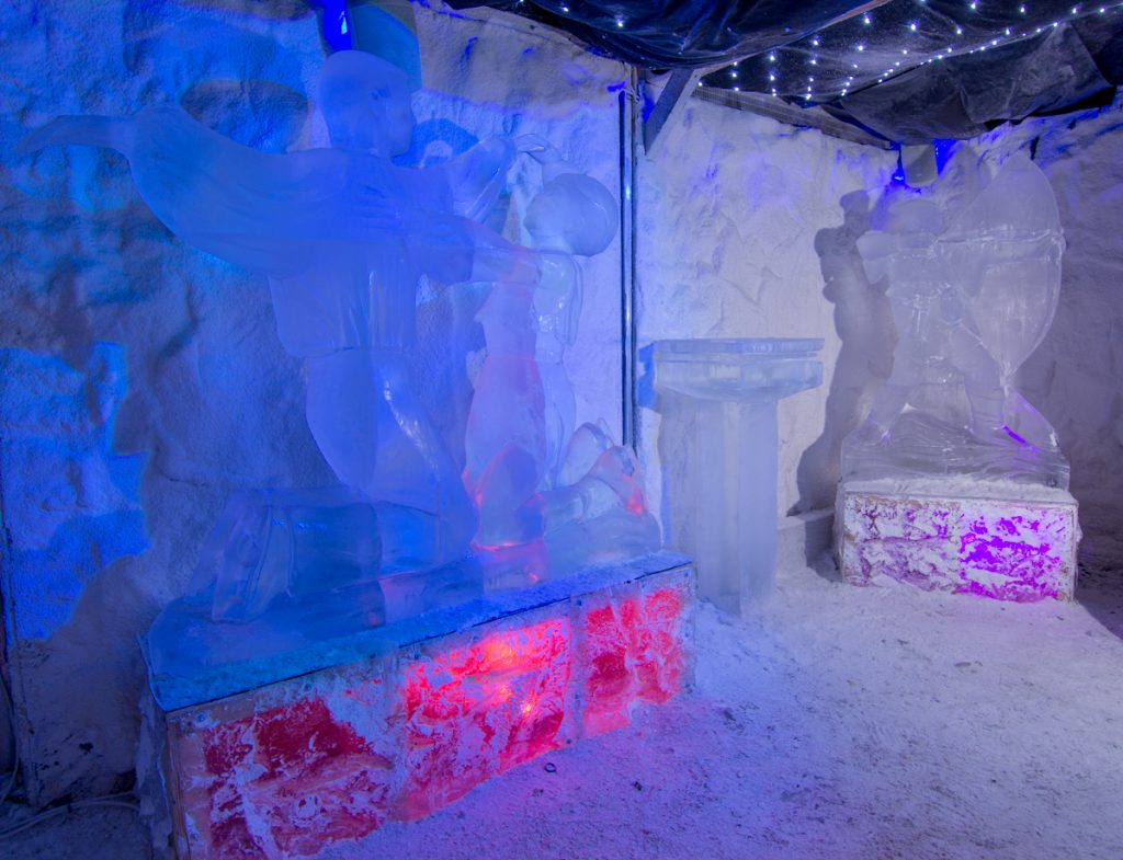 Ice Sculpture event in Nottingham
