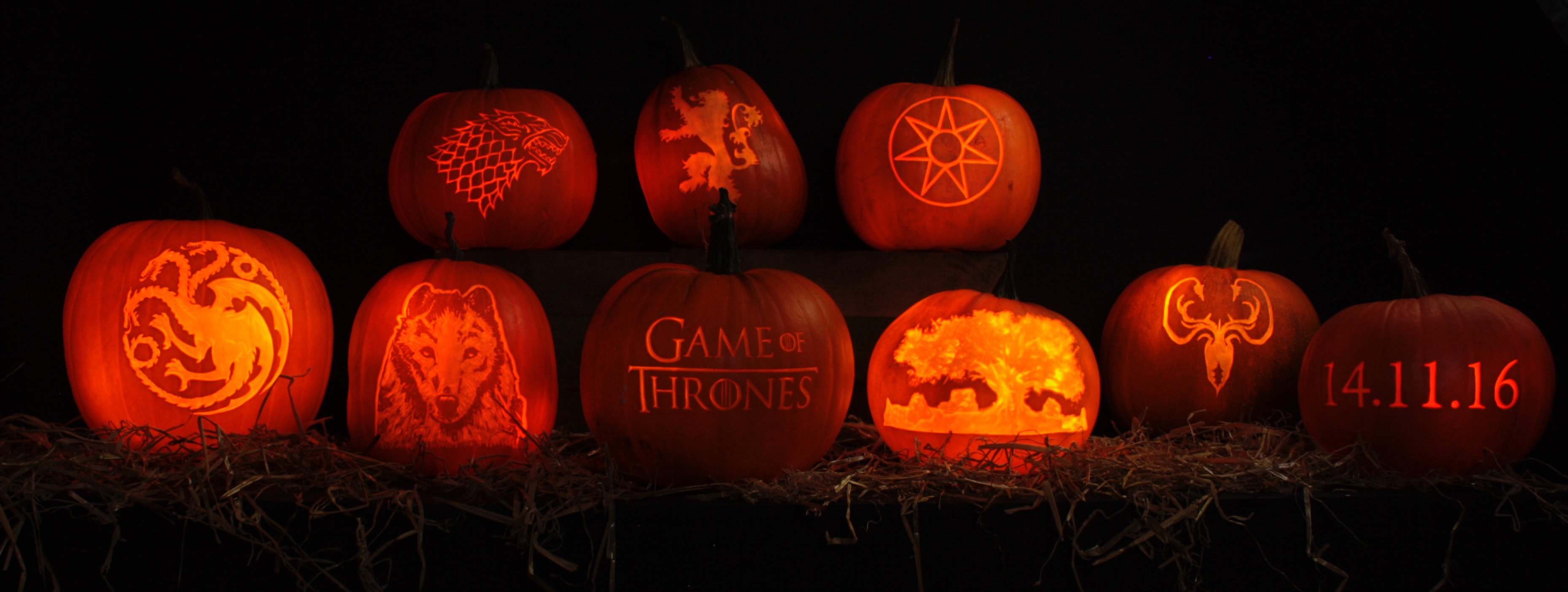 Game of Thrones stencil pumpkin carvings