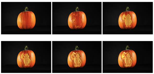 how the pumpkin was carved step by step