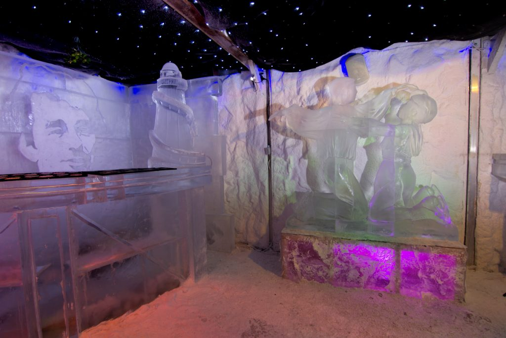 Christmas ice sculpture events