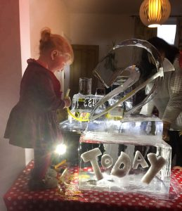 Florence with her ice luge