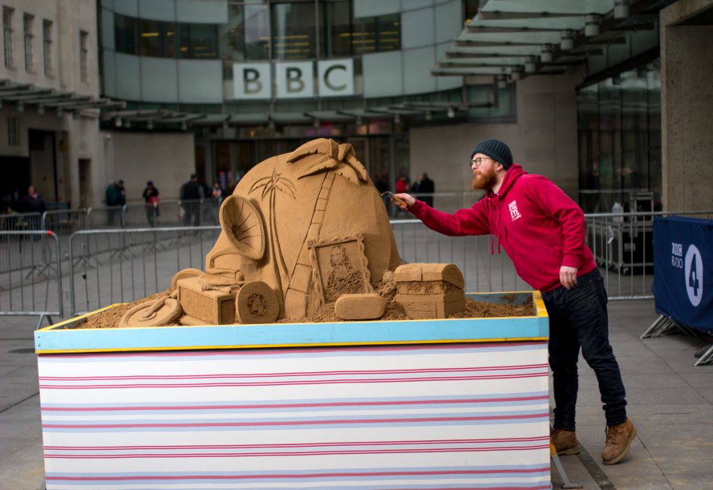 Jamie Wardley, sand sculptor, Sand in Your Eye