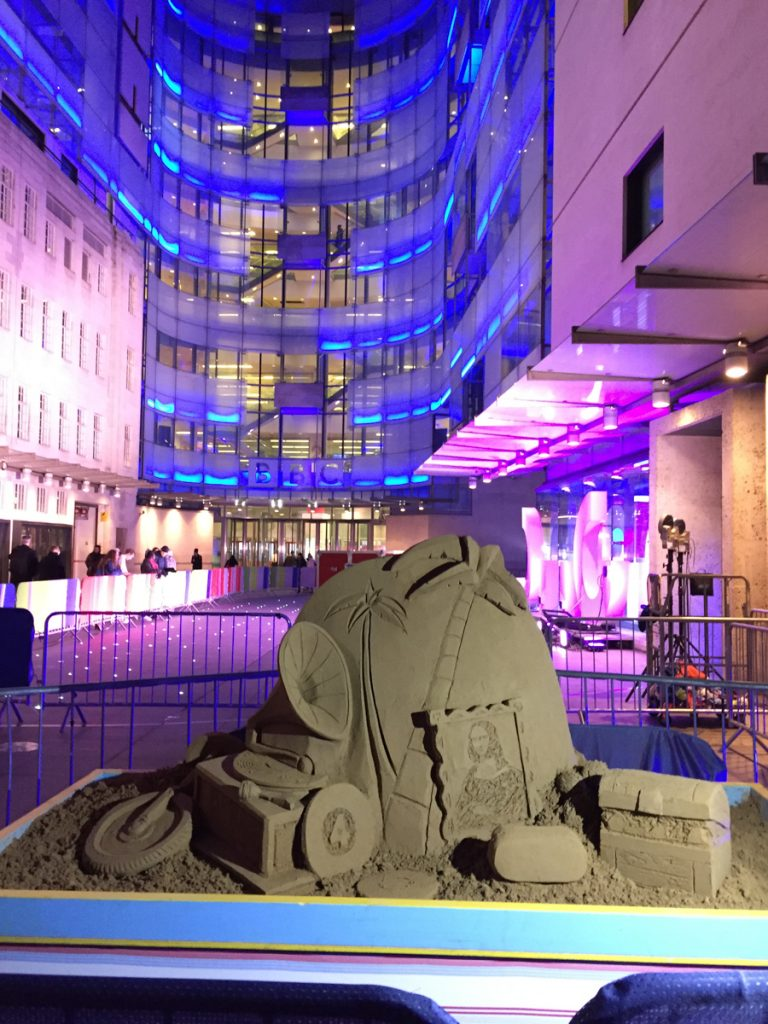 Pop up sand sculpture for the BBC