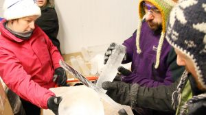 Ice sculpture workshops, team building days, creative workshops