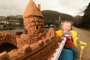 Children's sand sculpture workshops Yorkshire