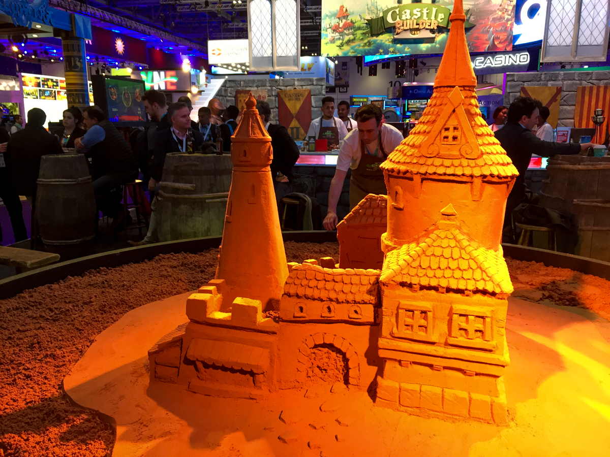 Corporate entertainment events table top sand sculpture