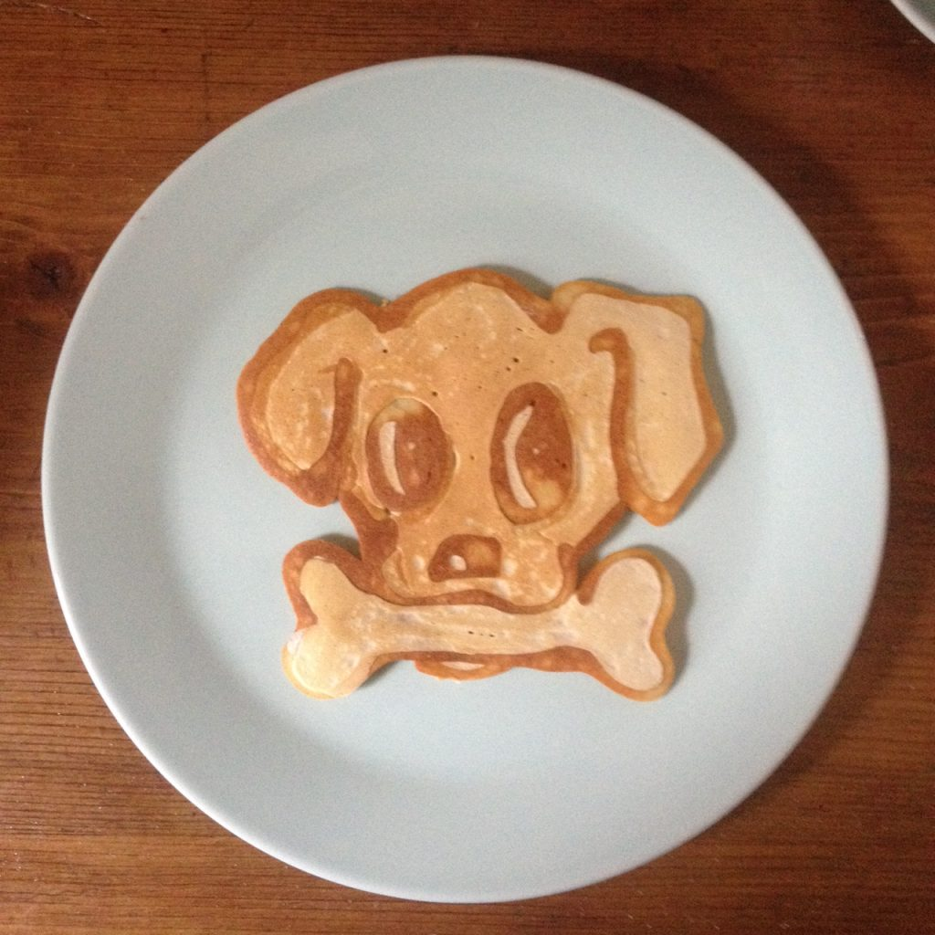 Pancake Art Dog