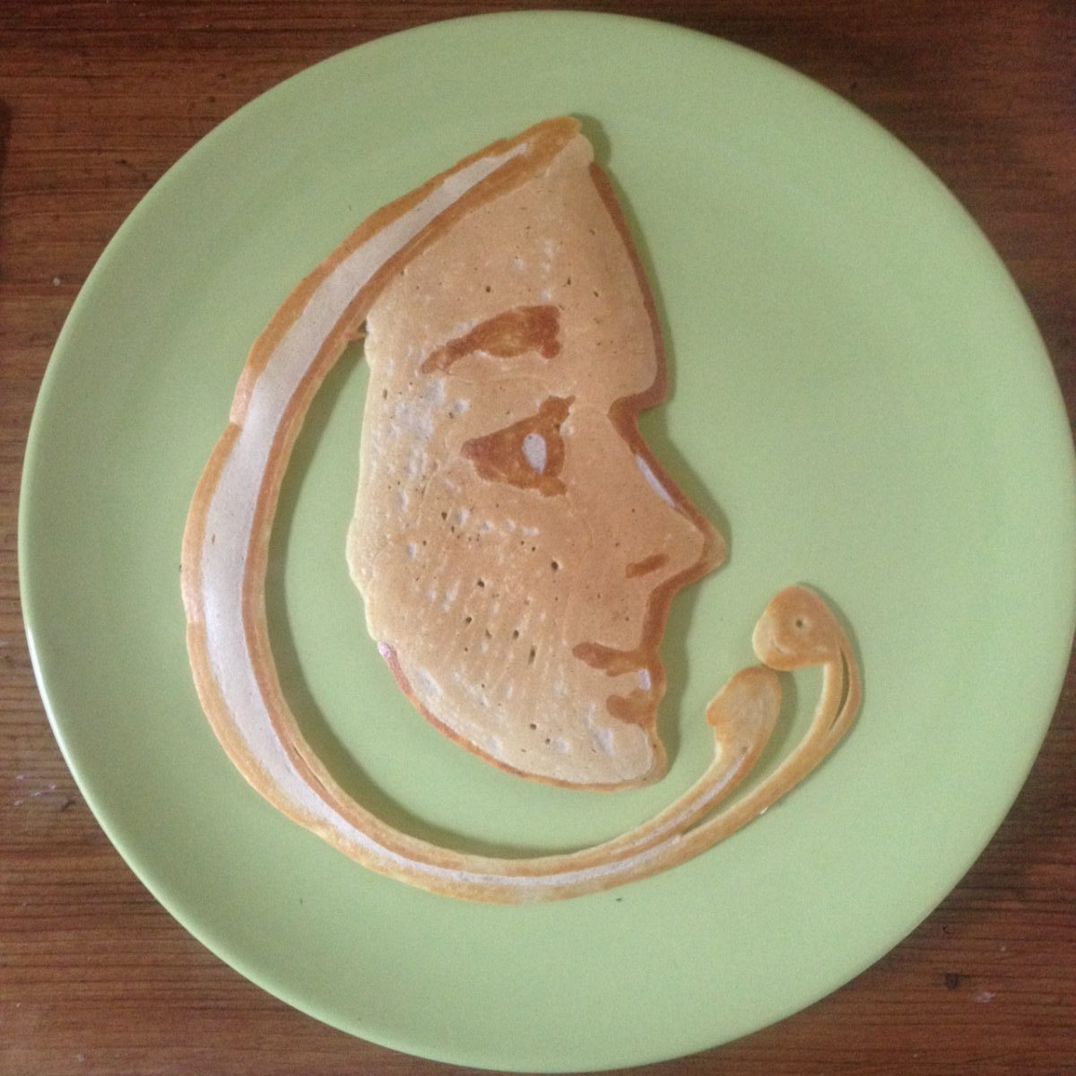 Pancake Art, Faces