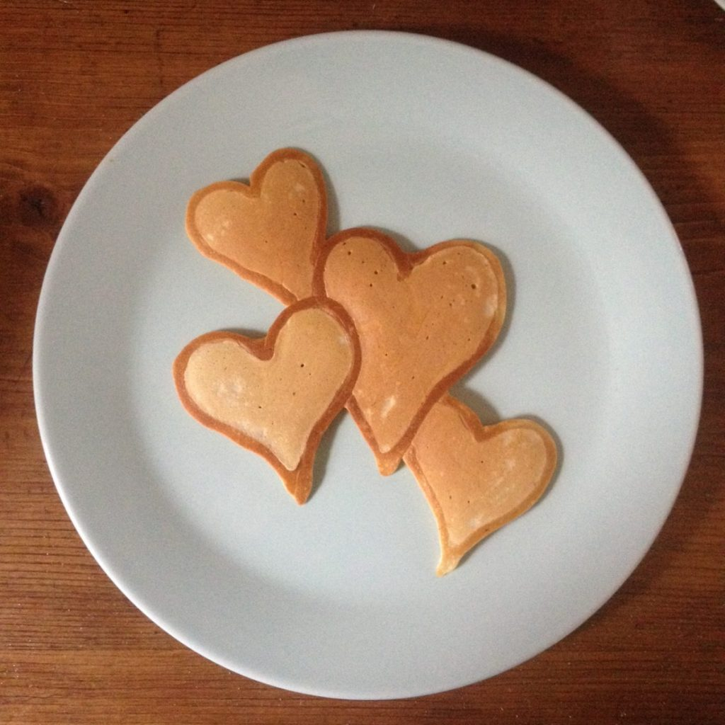Pancake Art Hearts