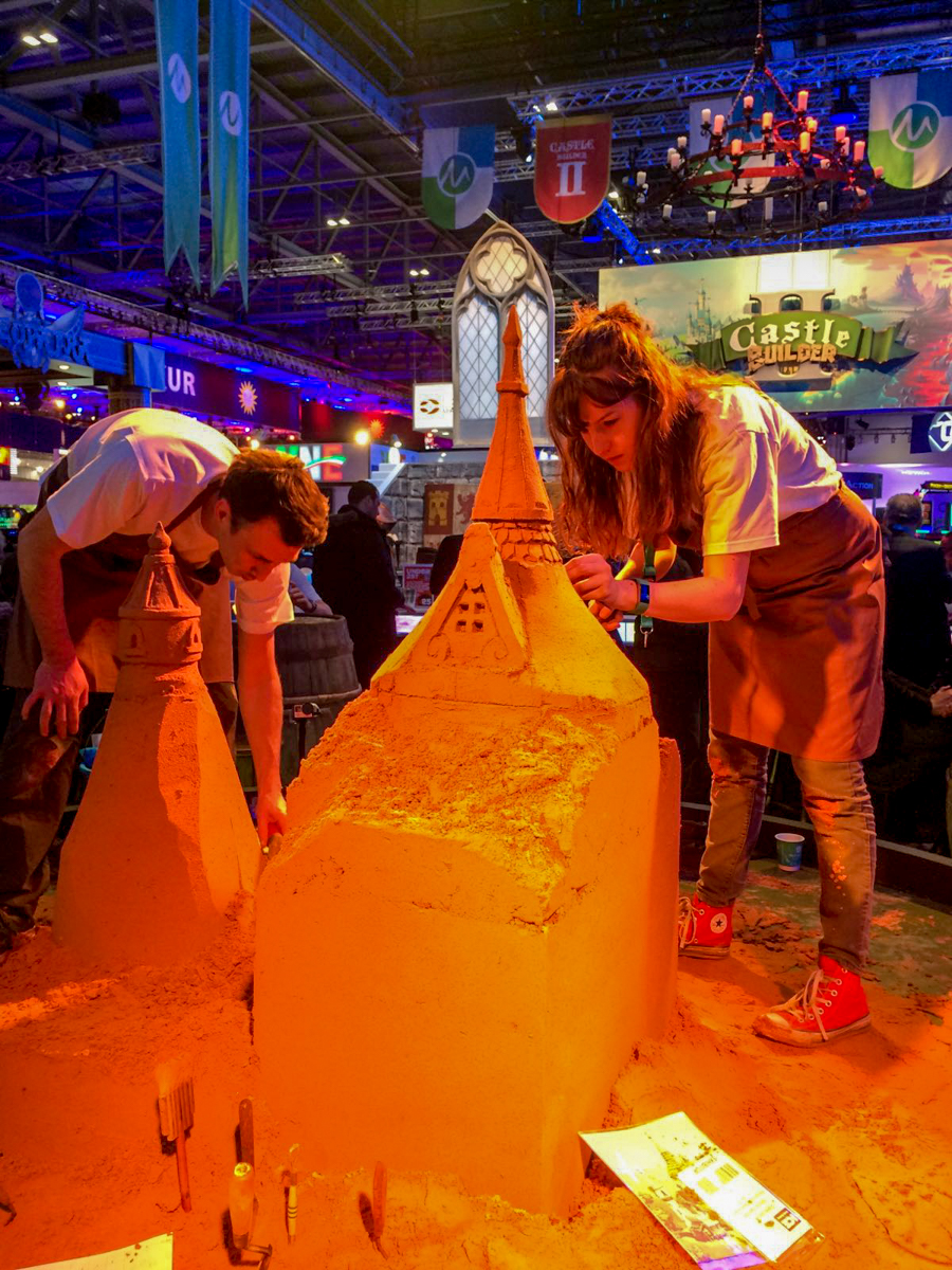Sand sculptures for corporate entertainment