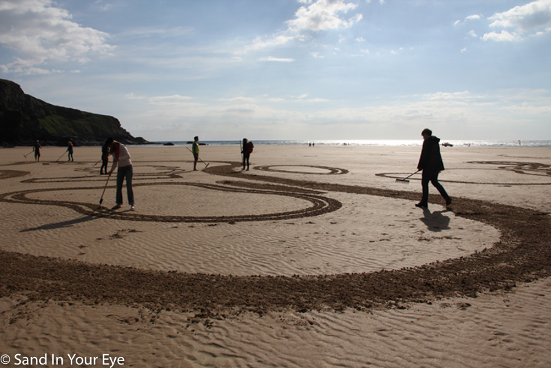 Sand Drawing Corporate Team Building Event Nokia