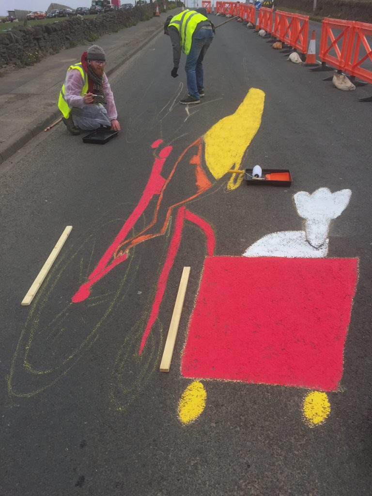 road art for Tour De Yorkshire