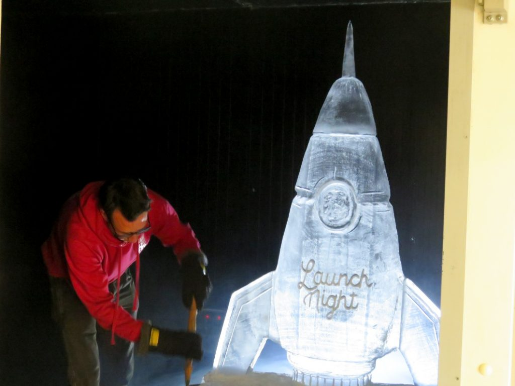 We will be running ice sculpture workshops too.