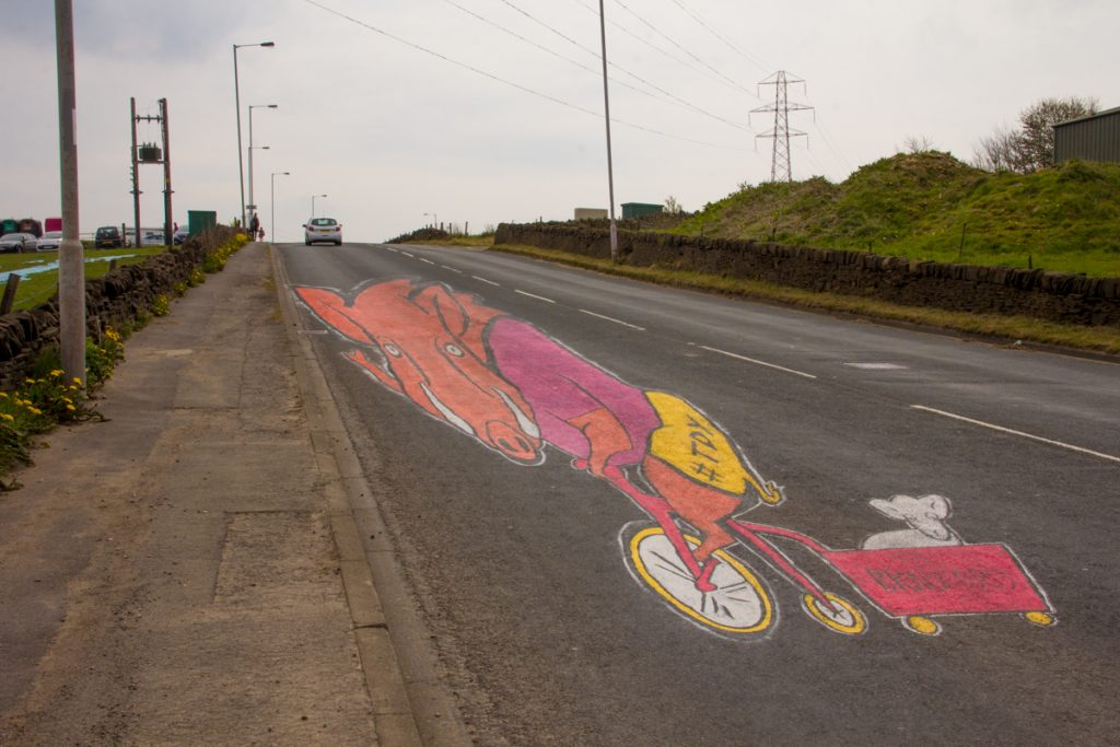 Urban road art, Tour De Yorkshire
