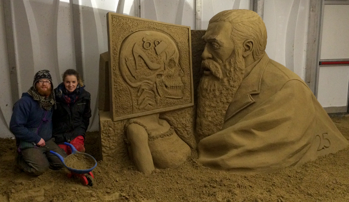 Claire jamieson jamie wardley sand sculptors uk
