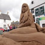 Huge sand sculpture event festival scotland