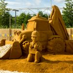 London sand sculpture sand in your eye bob the builder