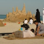 Qatar sand sculptor sand sculpture middle east