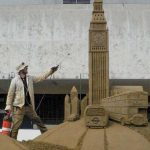 Sand sculpture london big ben austria