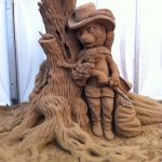 Sand sculpture puss in boots family events