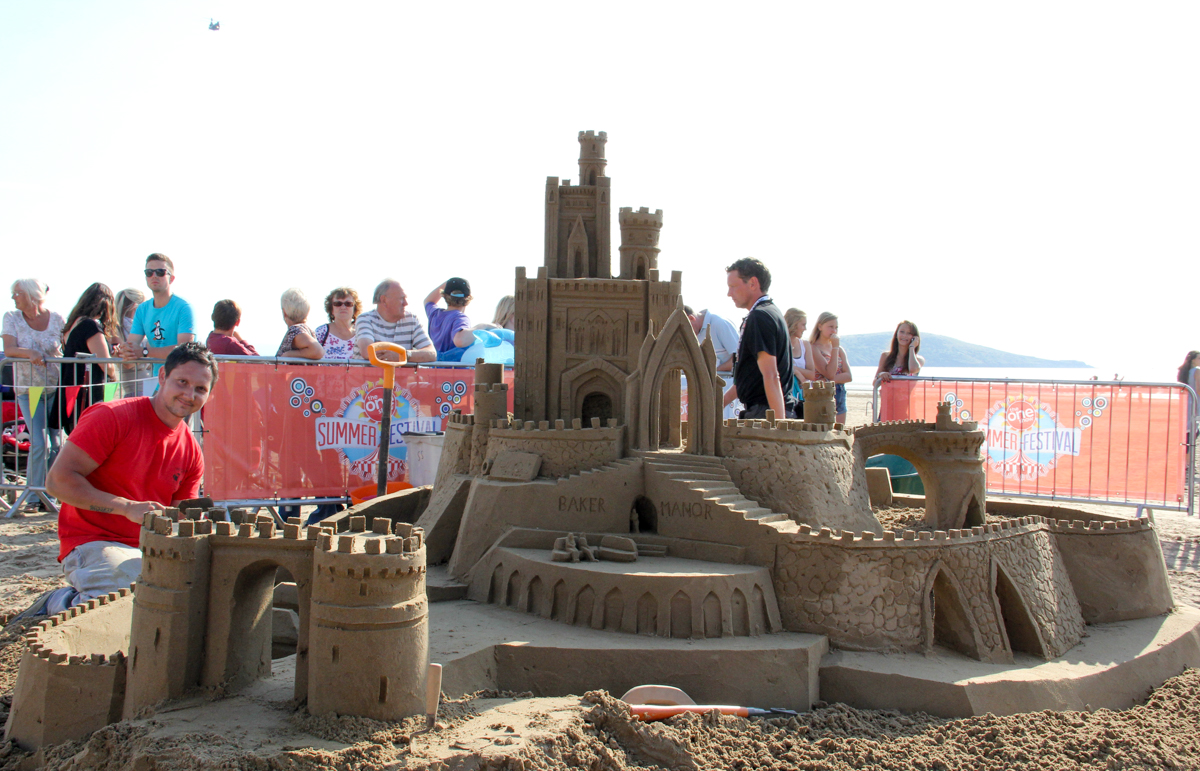 TV giant sand castle media bbc one show weston super mare